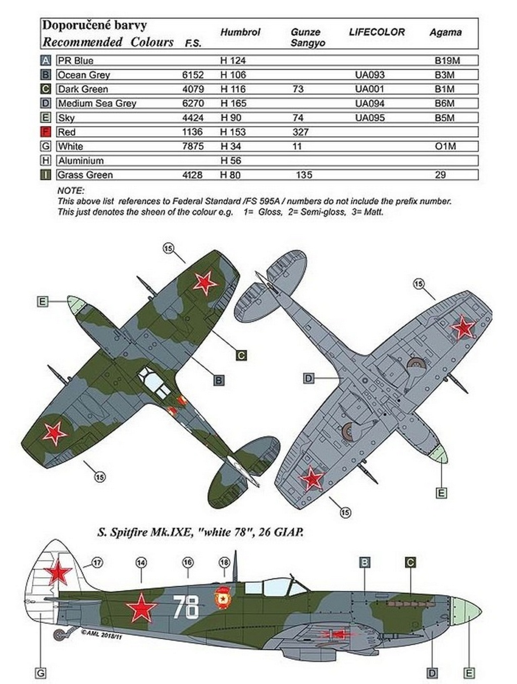 Spitfire LF-IXe with Soviet Pilot & Ground Crew 1/48 ( ICM 48803 ) 0732