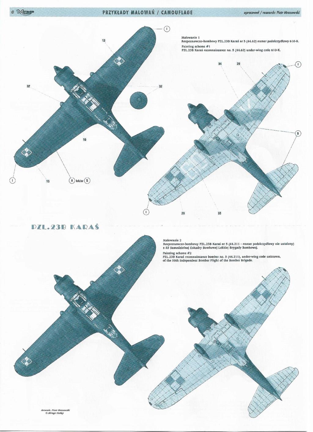 "Fil rouge 2020 , PZL P-23B Karas ""1939 Campaign"" (Mirage Hobby 1/48) 0923"