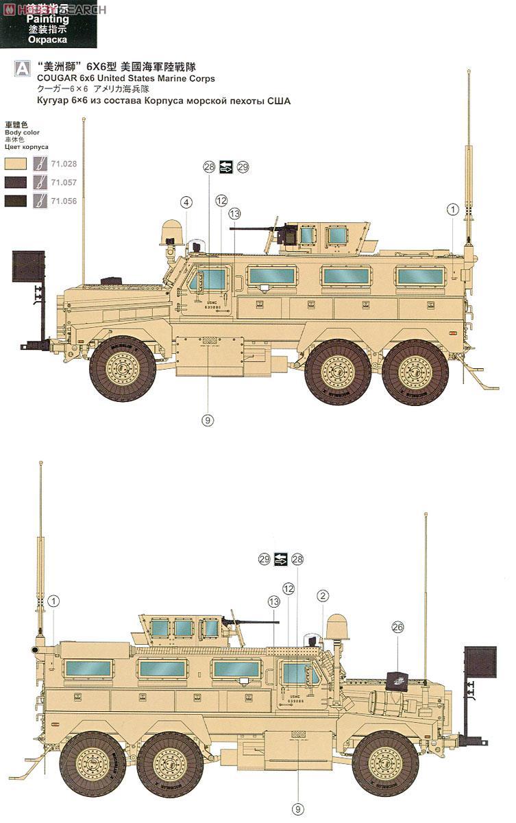 U.S. Cougar 6x6 M.R.A.P ( Meng 1/35 réf SS.005 )  10304212