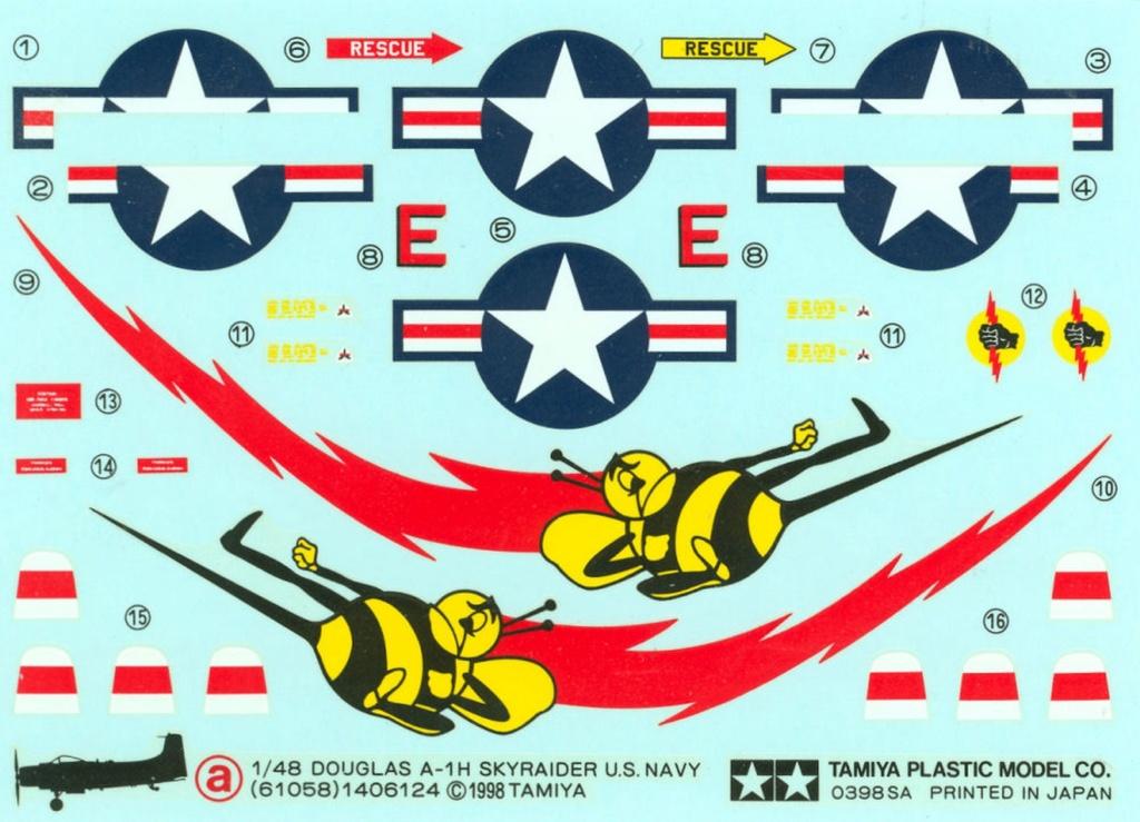 AD-4 Skyraider n°123895 /SFERMA 110 de l'EC 3/20  (Tamiya 1/48) 1123
