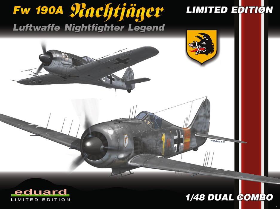 """FW 190 A-5 codé D5 + XV du 10/NJG-3 """"Nachtjagdkommando 190"""" (Eduard 1/48) 114410"""