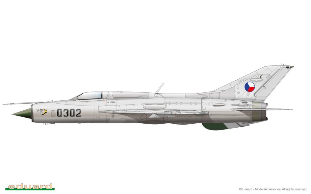 "MiG-21PF (Eduard  réf 1187 ""Silver Harrows "" 1/48)  1187-010"