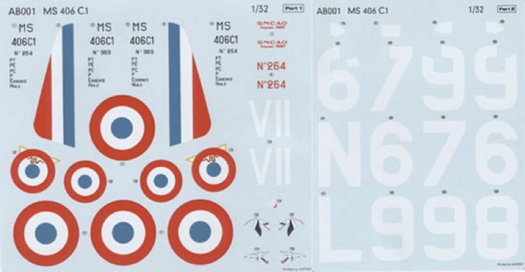Morane Saulnier MS 406 (Azur /AB Toys 1/32) + décals Kagero Top Colors 17 1332