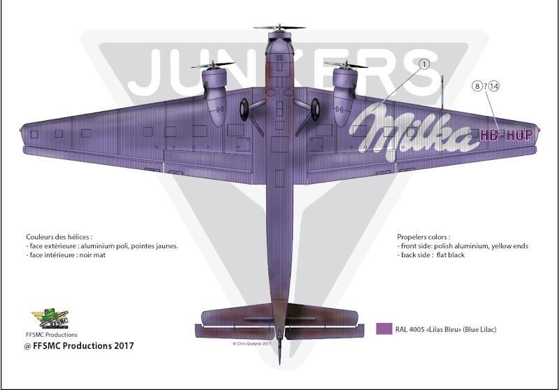 "Junkers Ju-52 ""Milka"" ( Italeri plus  décals Karaya et FFSMC au 1/72 )  17884010"