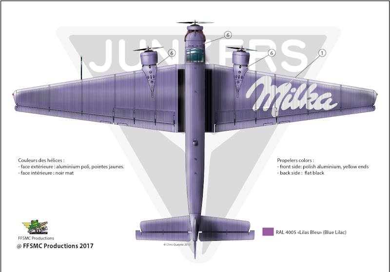 "Junkers Ju-52 ""Milka"" ( Italeri plus  décals Karaya et FFSMC au 1/72 )  17884310"