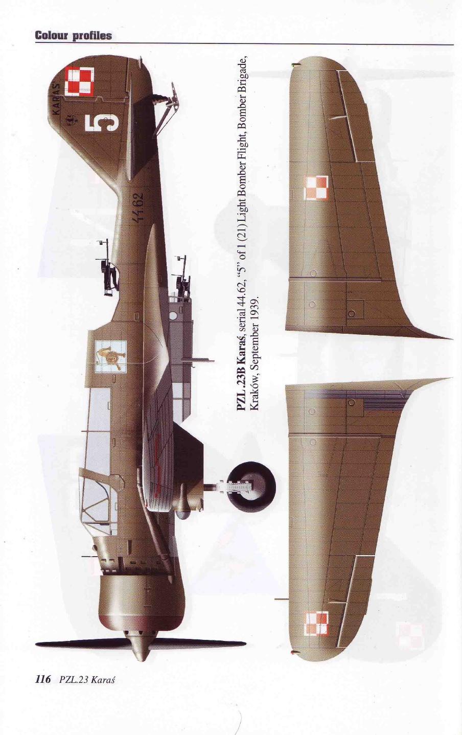 "Fil rouge 2020 , PZL P-23B Karas ""1939 Campaign"" (Mirage Hobby 1/48) 29-db710"
