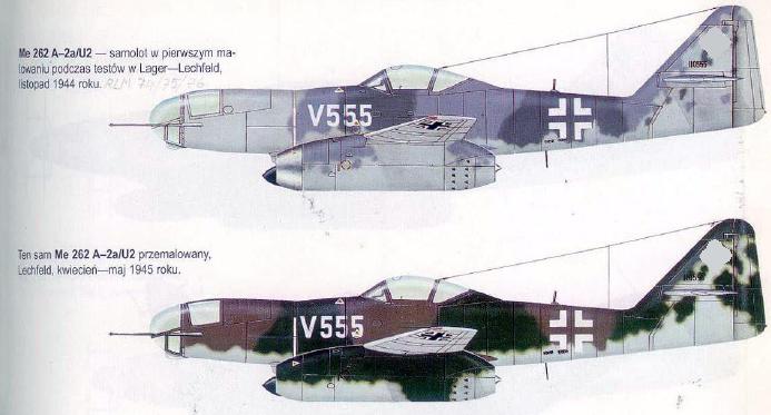 Me 262 A-2a/U2 au 1/48 ( Dragon 5529 versus Hobby Boss 80377 ) 2hgu4x10