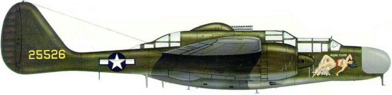 "Northrop P-61A s.n 425526 ""Mightie Mission"" du 6th NFS - Saipan - été 44 (hobby boss 1/48) 3_411"