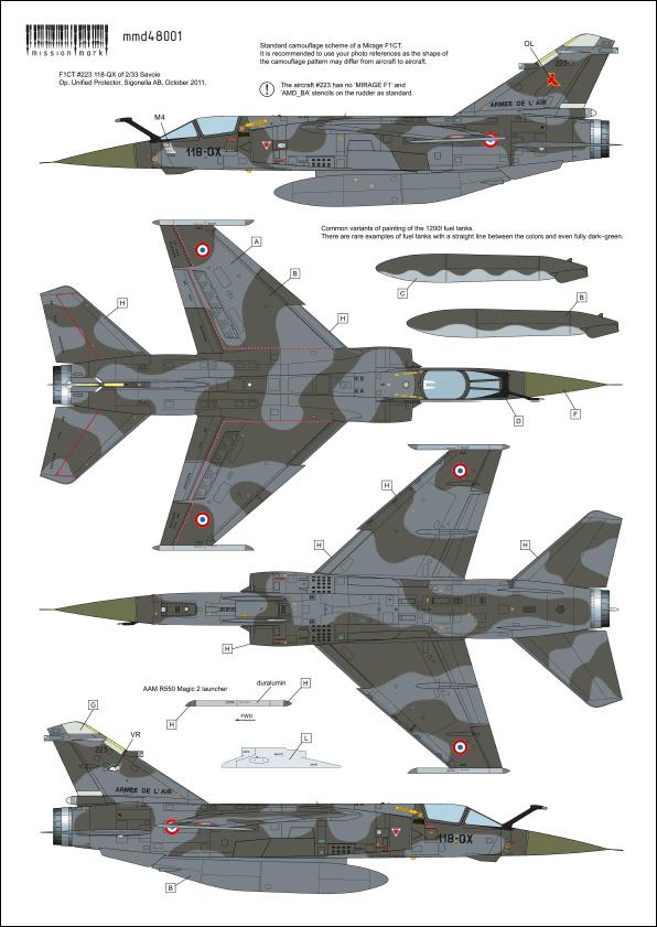 Mirage F-1 CR n°658 / 118-NQ (Kitty Hawk 1/48) opex Baltic Air Policing 2013 ... 48001_10