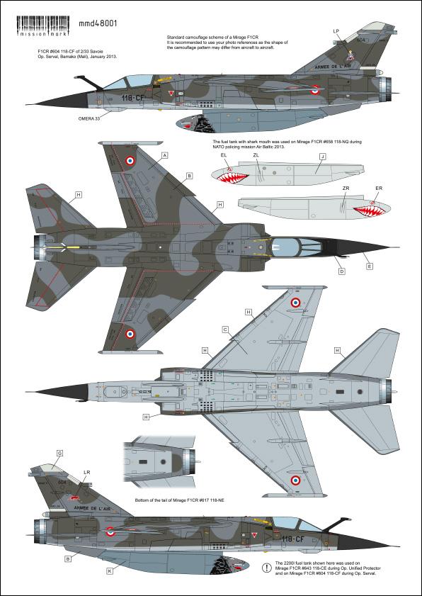 Mirage F-1 CR n°658 / 118-NQ (Kitty Hawk 1/48) opex Baltic Air Policing 2013 ... 48001_12