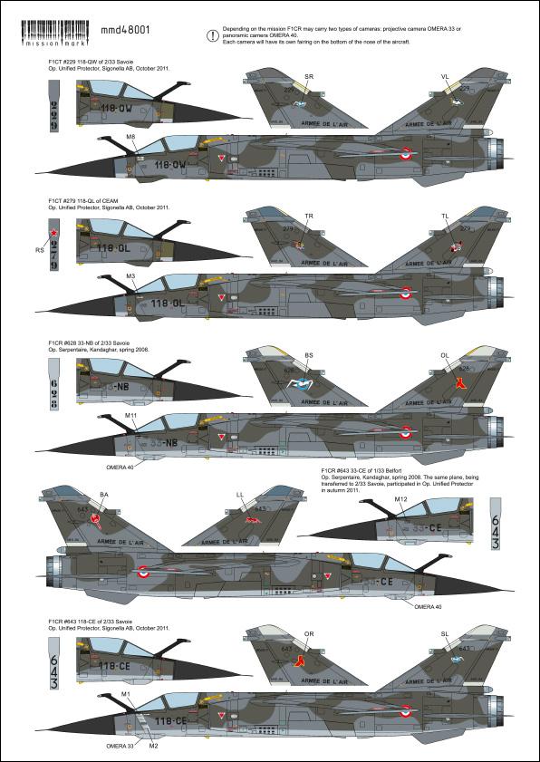 Mirage F-1 CR n°658 / 118-NQ (Kitty Hawk 1/48) opex Baltic Air Policing 2013 ... 48001_13