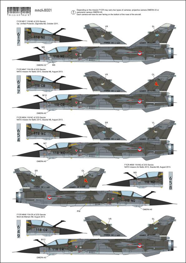 Mirage F-1 CR n°658 / 118-NQ (Kitty Hawk 1/48) opex Baltic Air Policing 2013 ... 48001_14
