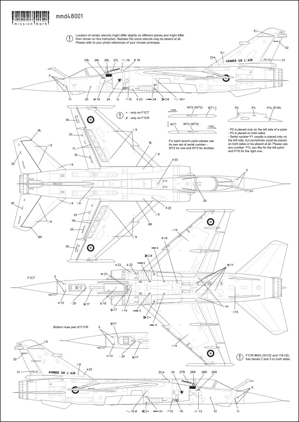 Mirage F-1 CR n°658 / 118-NQ (Kitty Hawk 1/48) opex Baltic Air Policing 2013 ... 48001_15