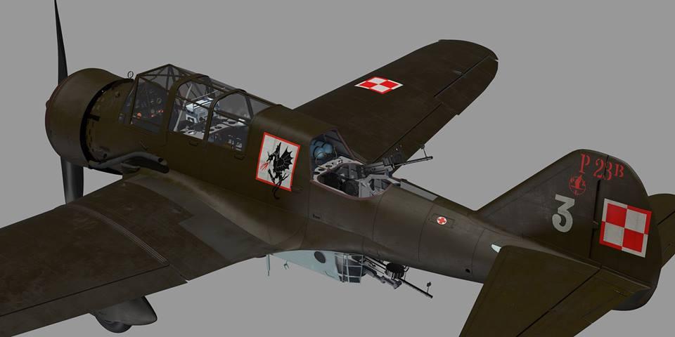 "Fil rouge 2020 , PZL P-23B Karas ""1939 Campaign"" (Mirage Hobby 1/48) 70557410"