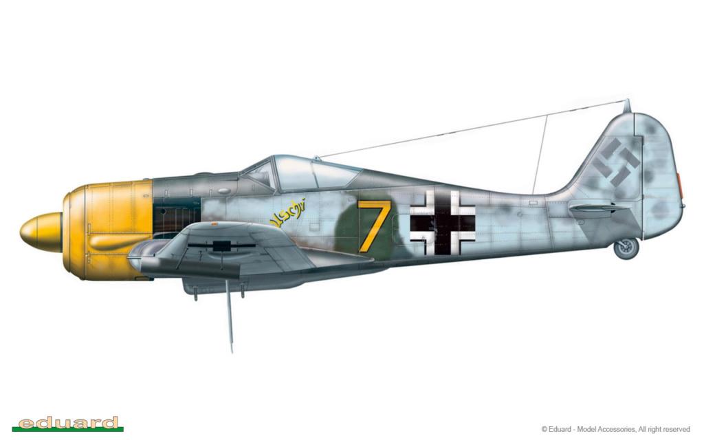 """FW 190 A-5 codé D5 + XV du 10/NJG-3 """"Nachtjagdkommando 190"""" (Eduard 1/48) 8174-c10"""