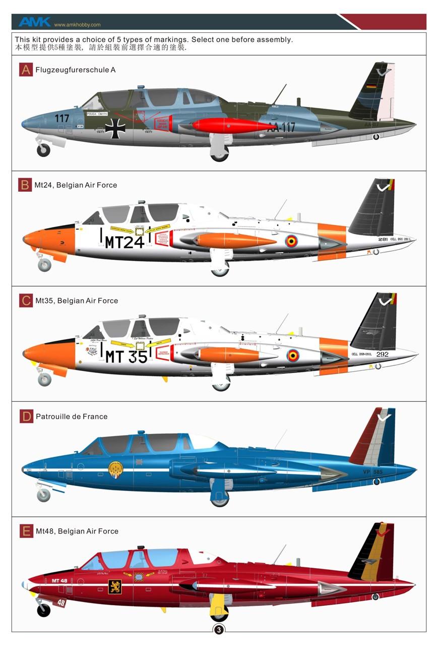 Fouga CM-170 Magister ( AMK 1/48 ) Amk-8812
