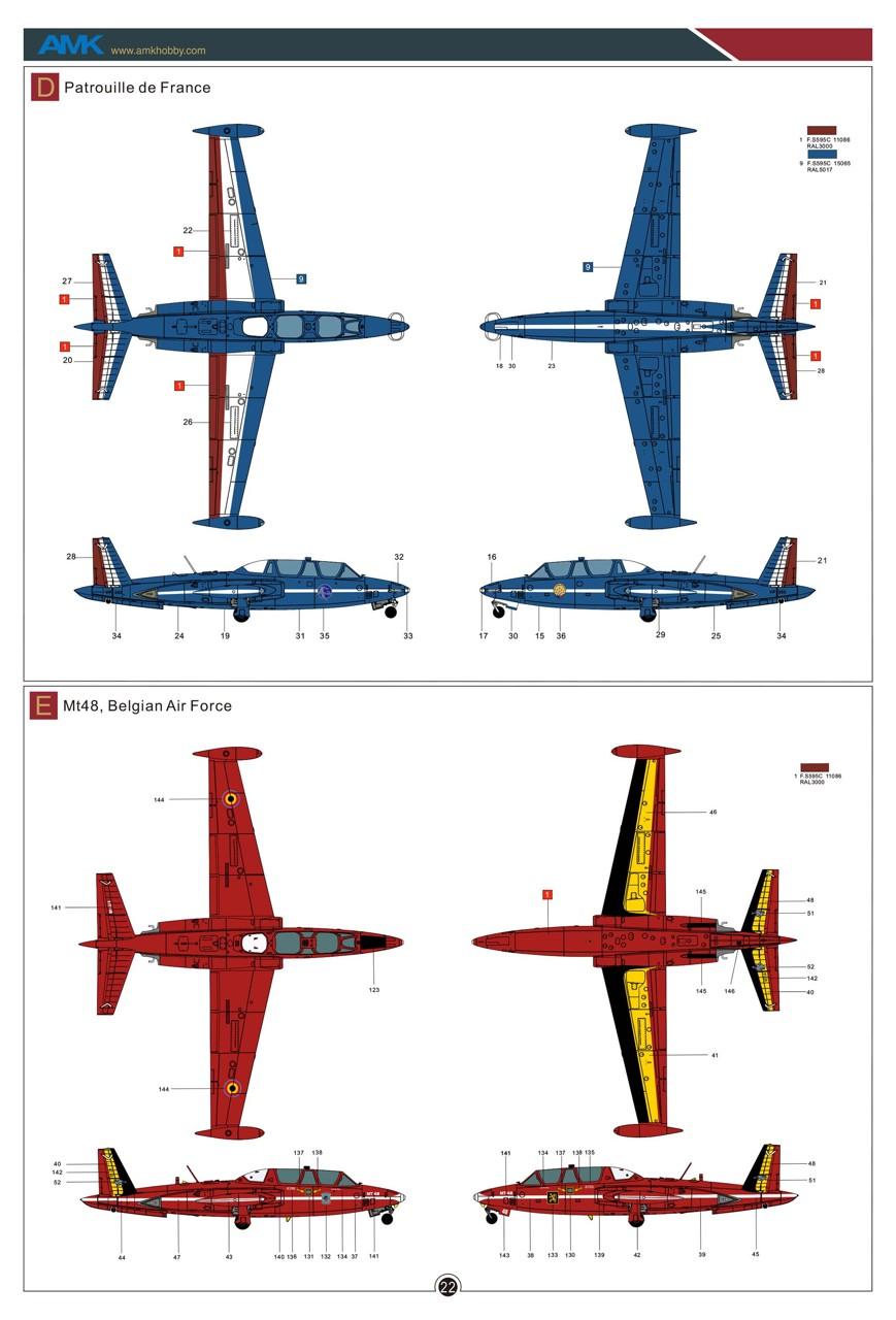 Fouga CM-170 Magister ( AMK 1/48 ) Amk-8814