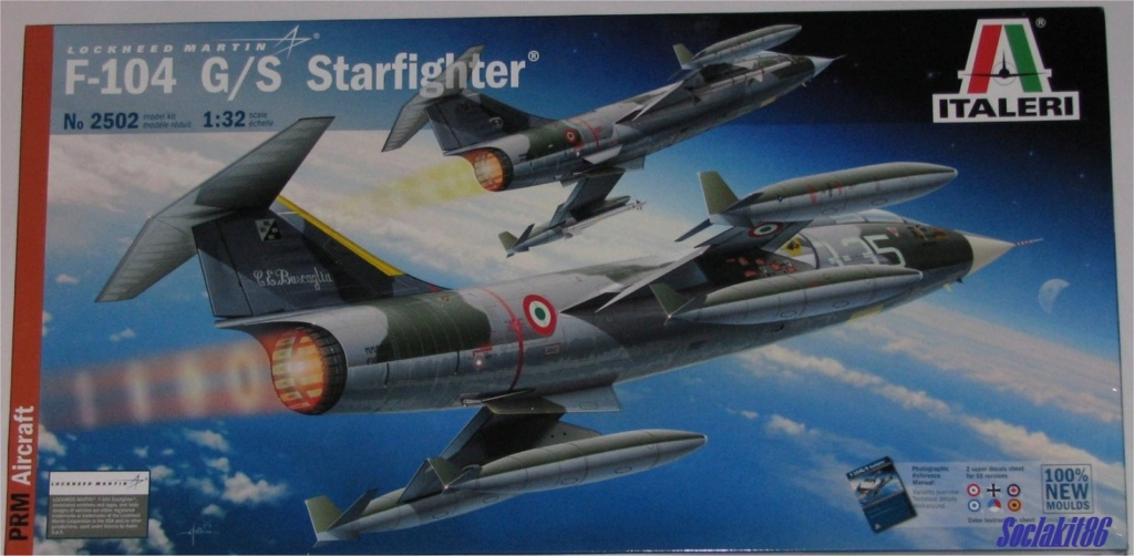 CF-104 G  /CL-90 Starfighter  RCAF - 417th Squadron Cold Lake AB 1962 (Italeri 1/32)  Box_ar15