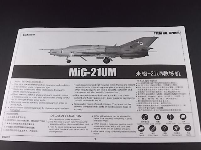 MiG-21 UM  Mongol B (Trumpeter 1/48)  Dscn1114