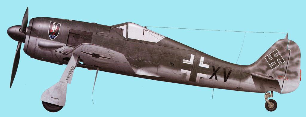 """FW 190 A-5 codé D5 + XV du 10/NJG-3 """"Nachtjagdkommando 190"""" (Eduard 1/48) Focke-15"""