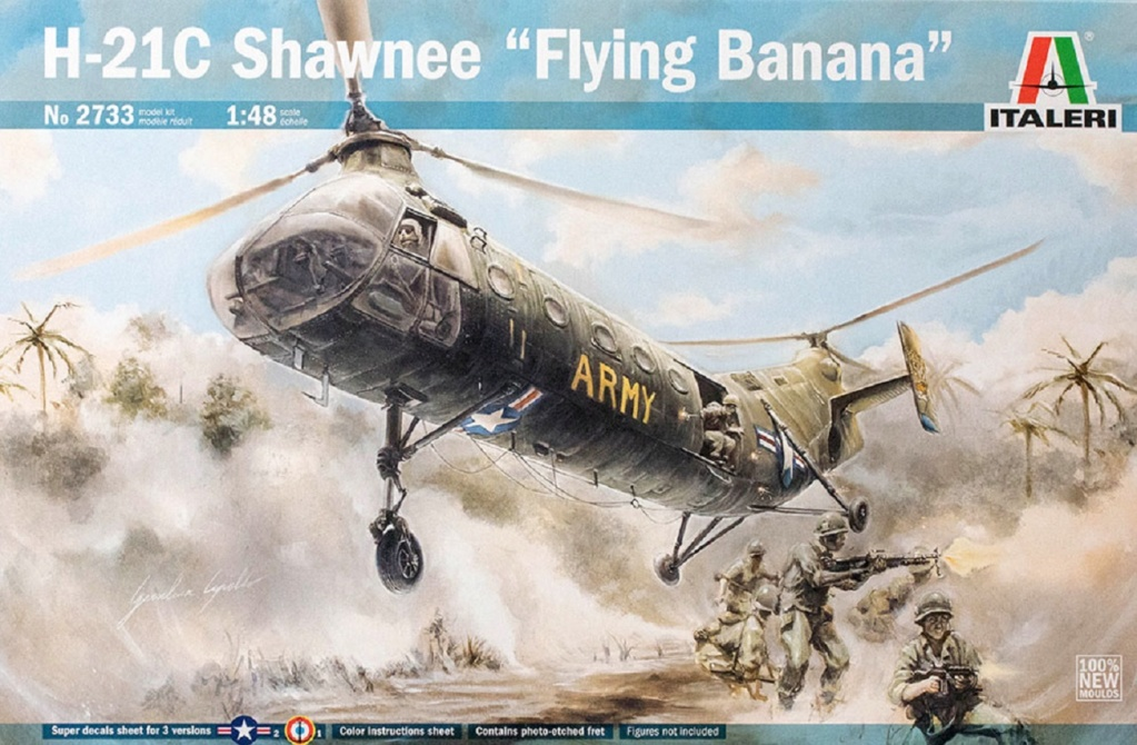 "Piasecki H-21C Shawnee ""Banane Volante "" (Italeri 1/48) It_27310"