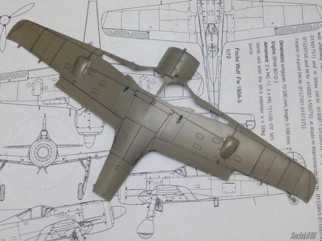 """FW 190 A-5 codé D5 + XV du 10/NJG-3 """"Nachtjagdkommando 190"""" (Eduard 1/48) M0146"""