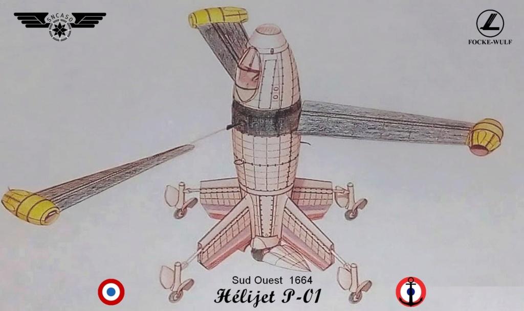 Sud Ouest 1664 Hélijet P-01 (Mini Art 1/35 réf 40009)  M0153