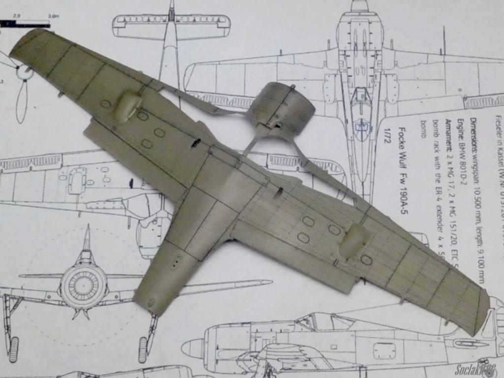 """FW 190 A-5 codé D5 + XV du 10/NJG-3 """"Nachtjagdkommando 190"""" (Eduard 1/48) M0341"""
