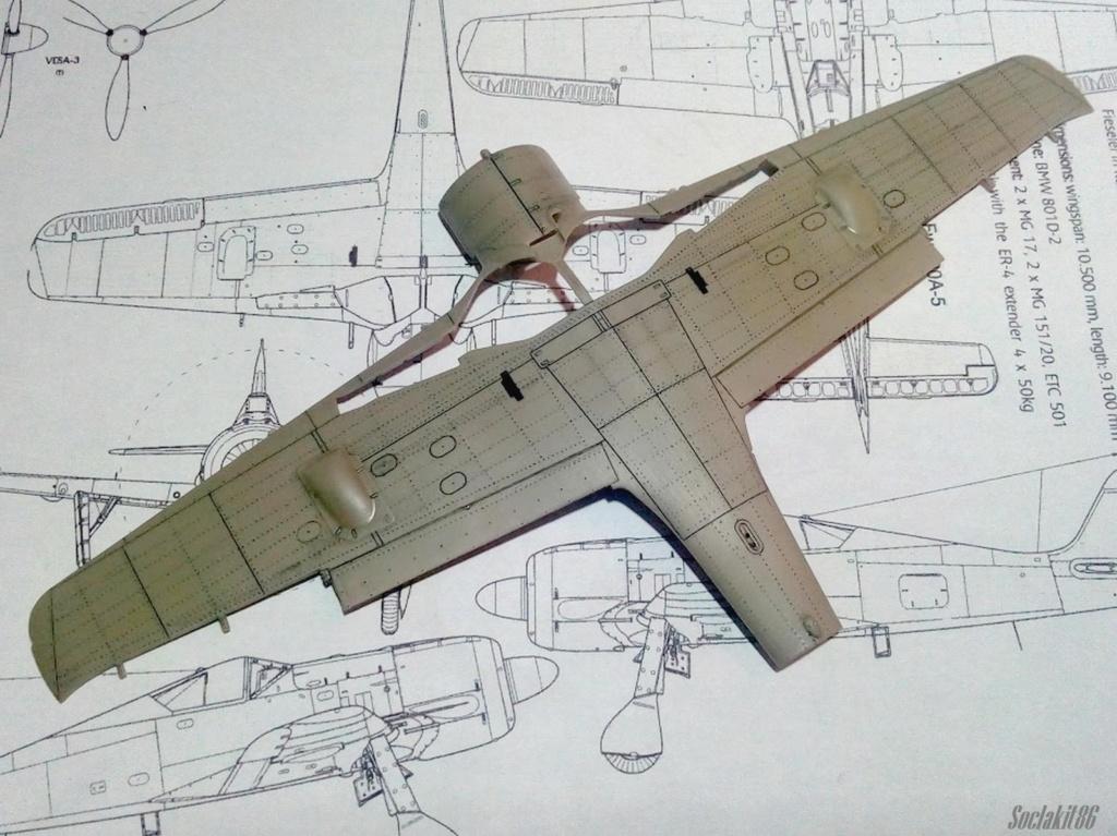 """FW 190 A-5 codé D5 + XV du 10/NJG-3 """"Nachtjagdkommando 190"""" (Eduard 1/48) M0540"""