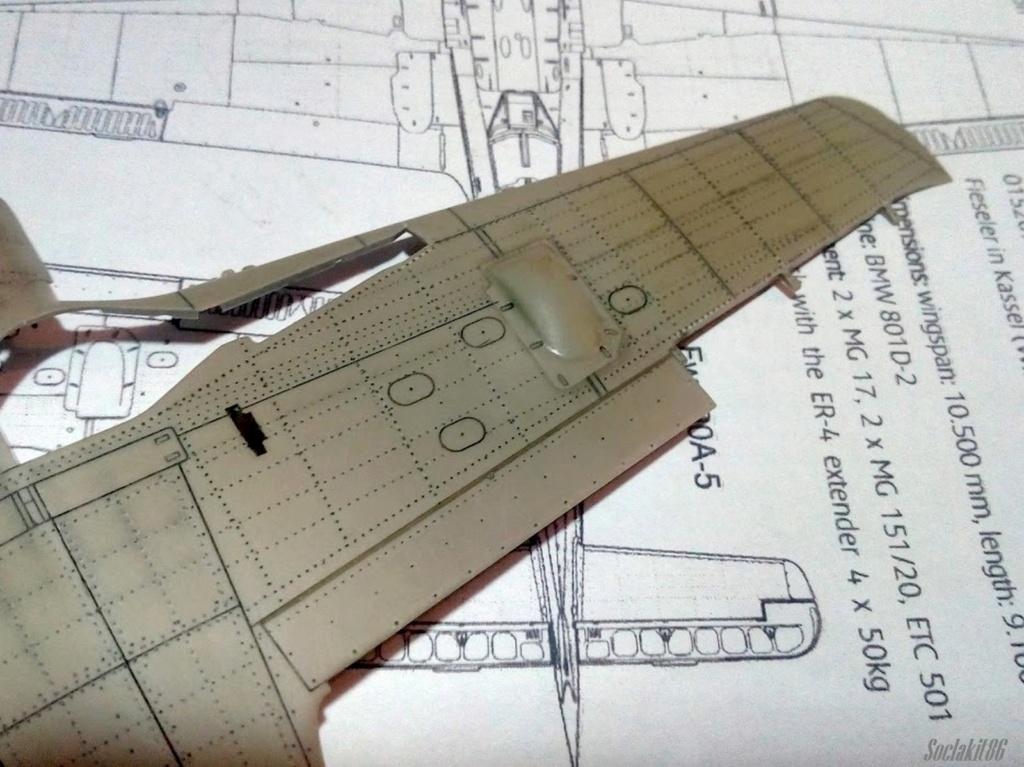 """FW 190 A-5 codé D5 + XV du 10/NJG-3 """"Nachtjagdkommando 190"""" (Eduard 1/48) M0938"""