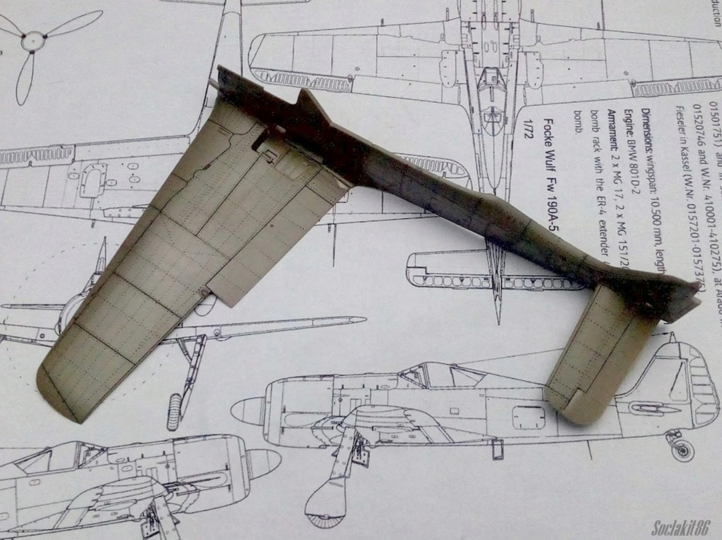 """FW 190 A-5 codé D5 + XV du 10/NJG-3 """"Nachtjagdkommando 190"""" (Eduard 1/48) M1134"""