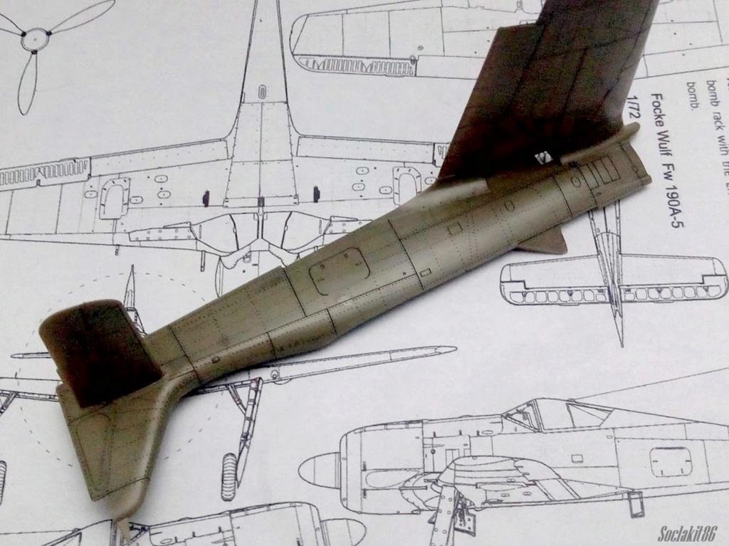 """FW 190 A-5 codé D5 + XV du 10/NJG-3 """"Nachtjagdkommando 190"""" (Eduard 1/48) M1236"""