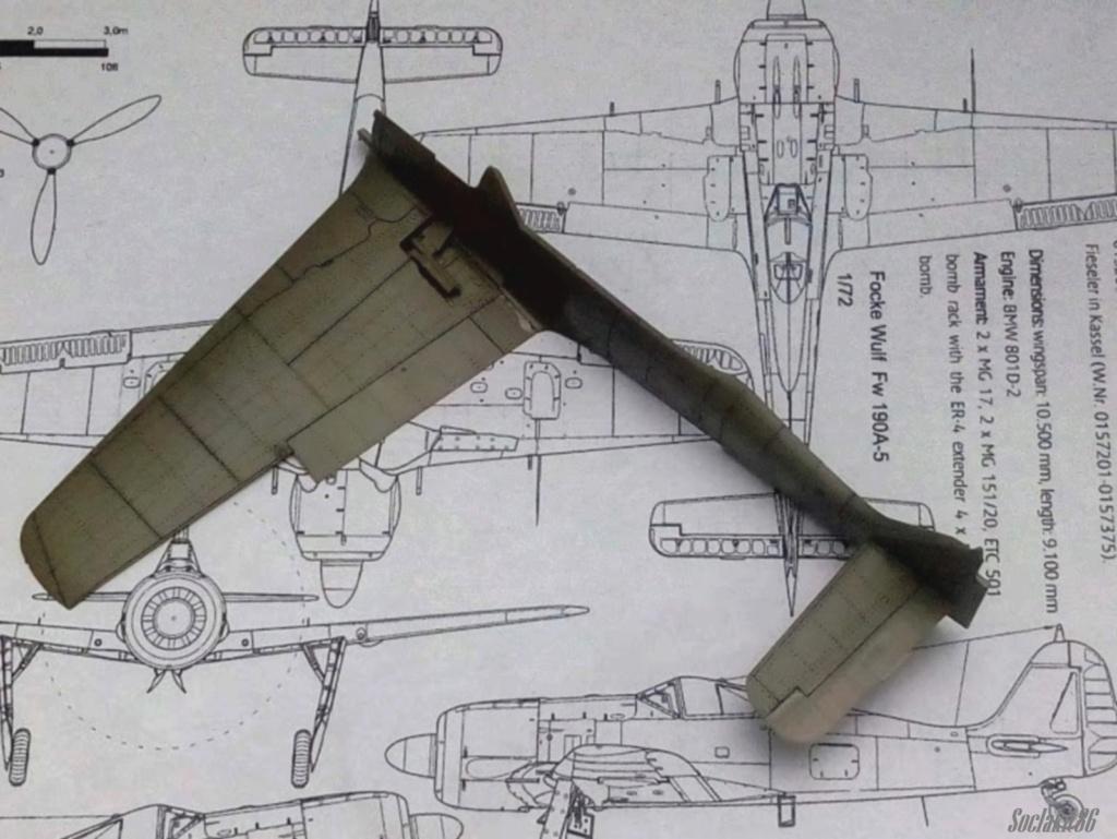 """FW 190 A-5 codé D5 + XV du 10/NJG-3 """"Nachtjagdkommando 190"""" (Eduard 1/48) M1438"""