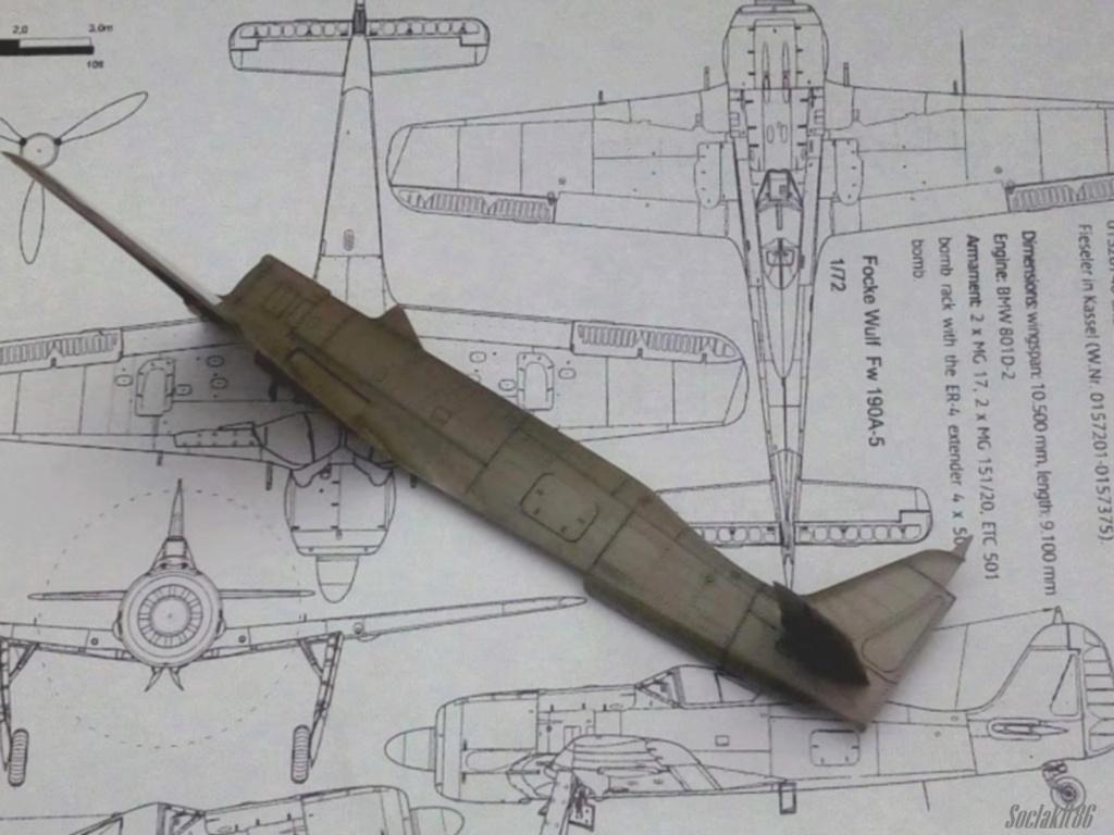 """FW 190 A-5 codé D5 + XV du 10/NJG-3 """"Nachtjagdkommando 190"""" (Eduard 1/48) M1535"""