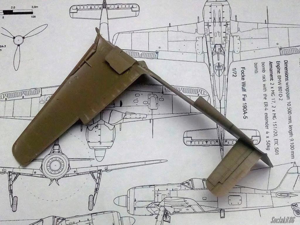 """FW 190 A-5 codé D5 + XV du 10/NJG-3 """"Nachtjagdkommando 190"""" (Eduard 1/48) M1937"""