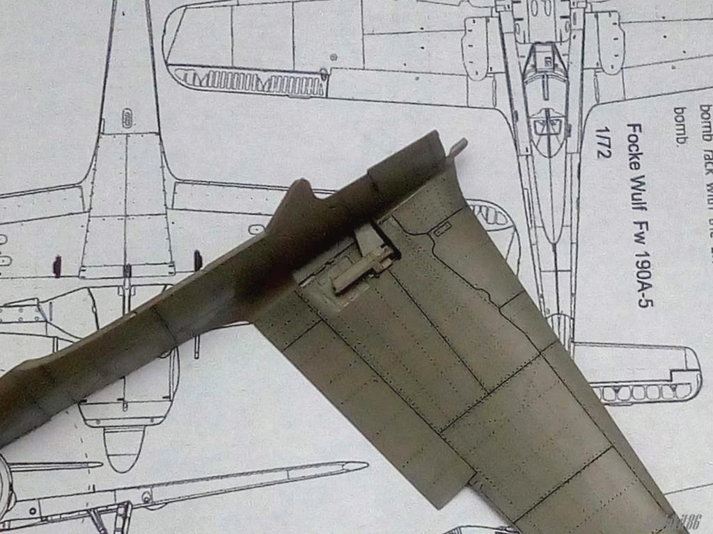 """FW 190 A-5 codé D5 + XV du 10/NJG-3 """"Nachtjagdkommando 190"""" (Eduard 1/48) M2036"""