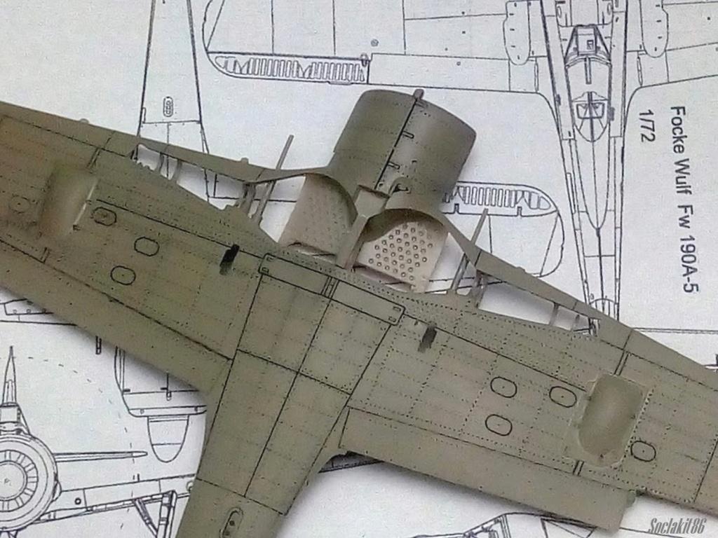 """FW 190 A-5 codé D5 + XV du 10/NJG-3 """"Nachtjagdkommando 190"""" (Eduard 1/48) M2134"""