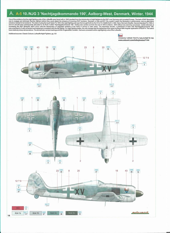 """FW 190 A-5 codé D5 + XV du 10/NJG-3 """"Nachtjagdkommando 190"""" (Eduard 1/48) Numzor10"""