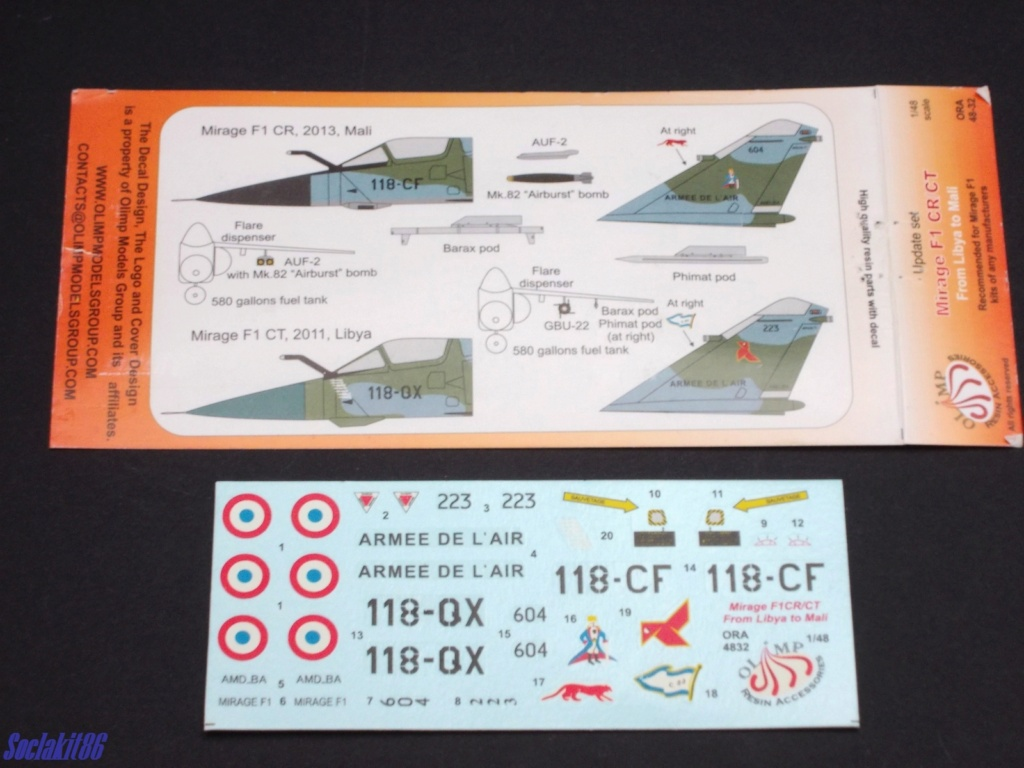 Mirage F-1 CR n°658 / 118-NQ (Kitty Hawk 1/48) opex Baltic Air Policing 2013 ... Ora_4811