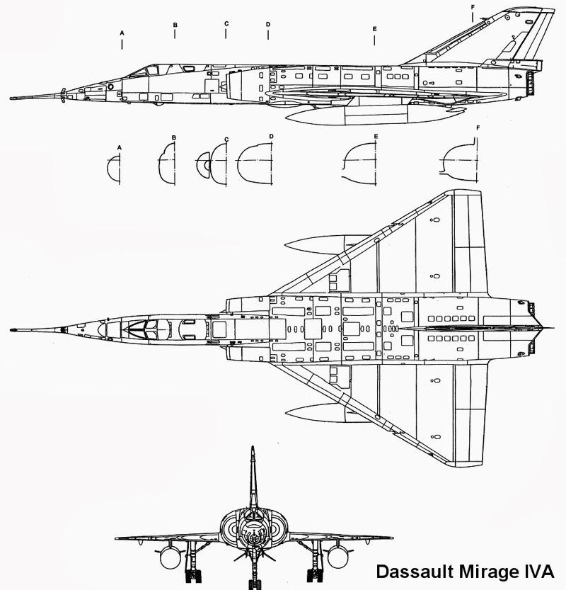 """Fil Rouge 2021 * Mirage IV A n°31/BD """"Opération Tobus """" (Heller 1/48)  Plan0110"""