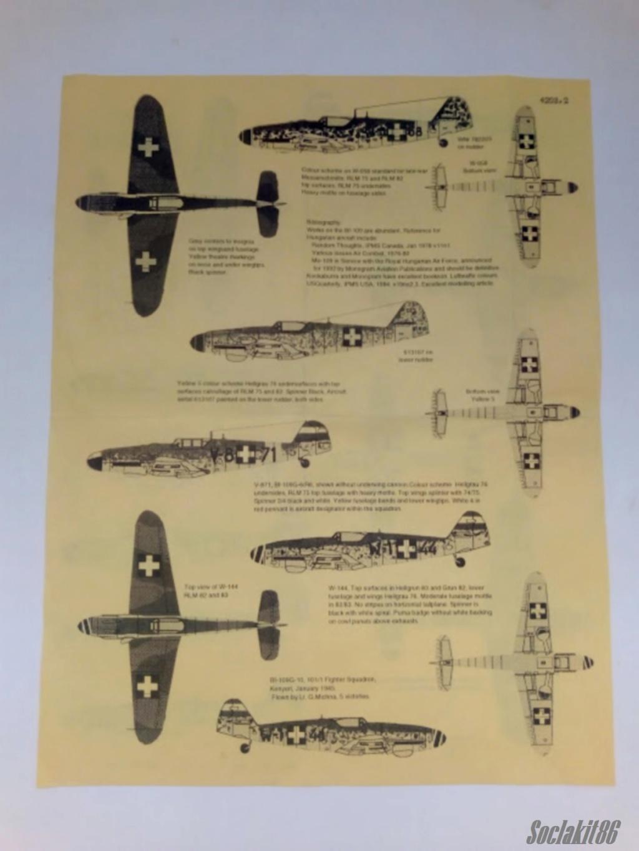 Bf 109 G-6 Hongrois V-8+71 du l'escadron de chasse 4/101 ( Octobre 1944) Hasegawa 1/48 +Décals Aviation USK R0710
