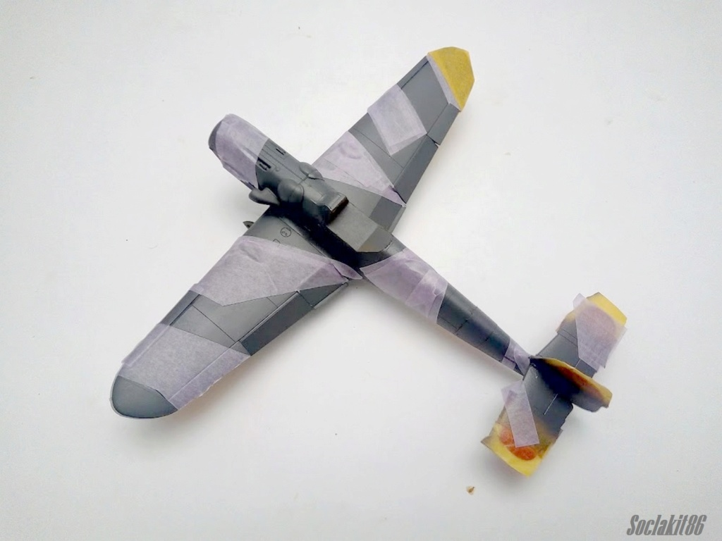Bf 109 G-6 Hongrois V-8+71 du l'escadron de chasse 4/101 ( Octobre 1944) Hasegawa 1/48 +Décals Aviation USK R1710