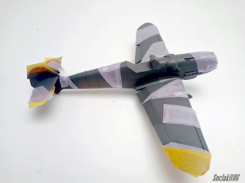 Bf 109 G-6 Hongrois V-8+71 du l'escadron de chasse 4/101 ( Octobre 1944) Hasegawa 1/48 +Décals Aviation USK R1910