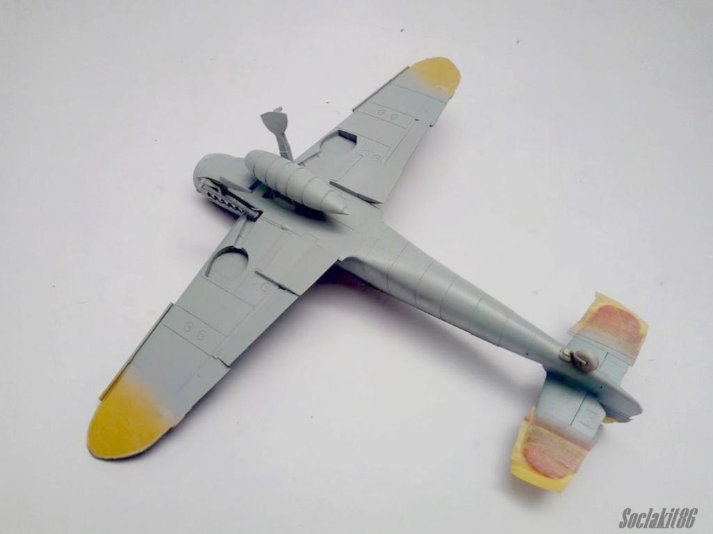 Bf 109 G-6 Hongrois V-8+71 du l'escadron de chasse 4/101 ( Octobre 1944) Hasegawa 1/48 +Décals Aviation USK R2410