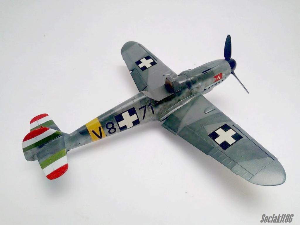 Bf 109 G-6 Hongrois V-8+71 du l'escadron de chasse 4/101 ( Octobre 1944) Hasegawa 1/48 +Décals Aviation USK R3010