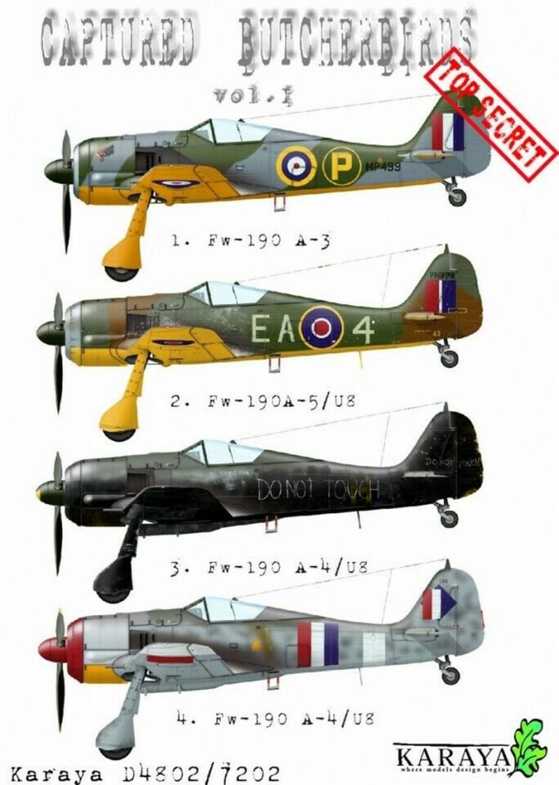 FW 190A-3 W.Nr. 135313 du III/JG-2 aux couleurs de la RAF été 1942 S-l16022