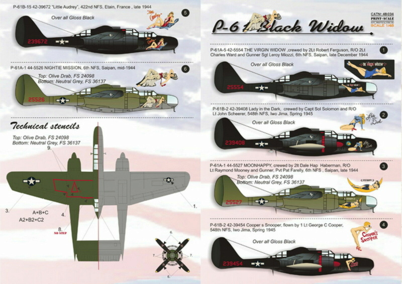 "Northrop P-61A s.n 425526 ""Mightie Mission"" du 6th NFS - Saipan - été 44 (hobby boss 1/48) S-l16023"