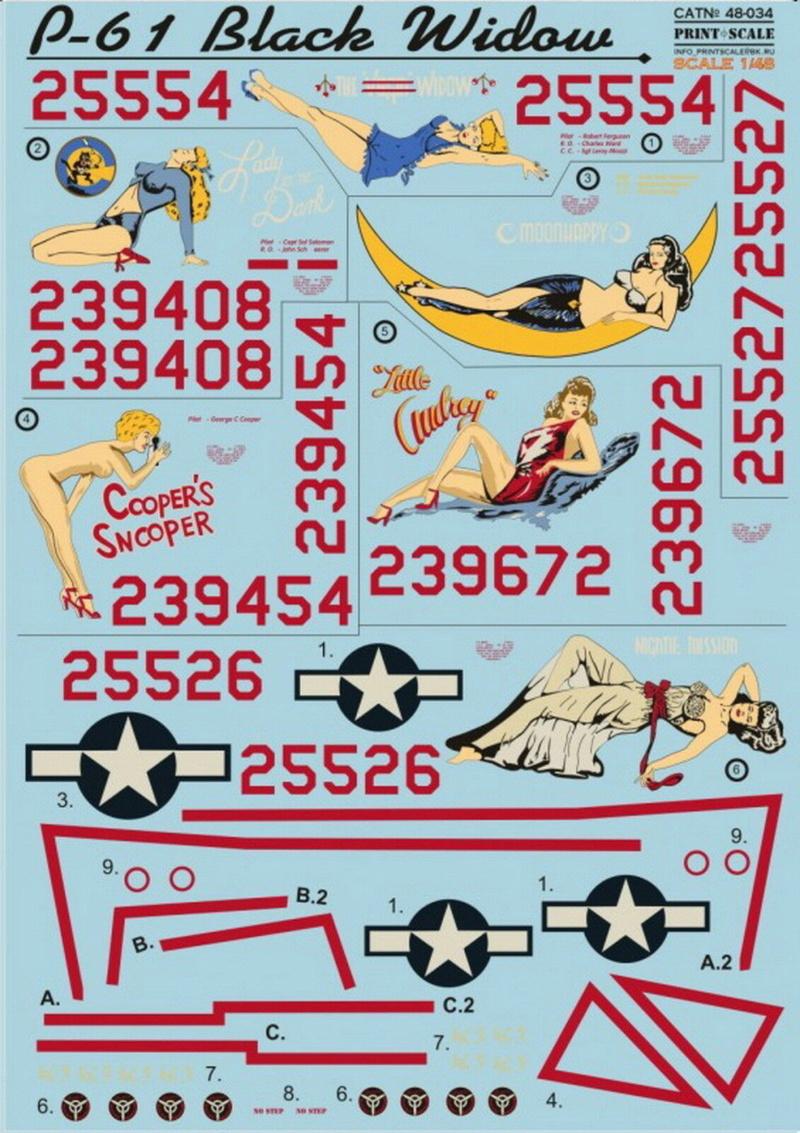 "Northrop P-61A s.n 425526 ""Mightie Mission"" du 6th NFS - Saipan - été 44 (hobby boss 1/48) S-l16024"