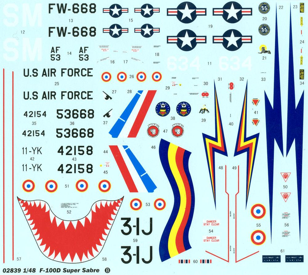 N.A. F-100 D Super Sabre (Trumpeter 1/48 ) Tru_2818
