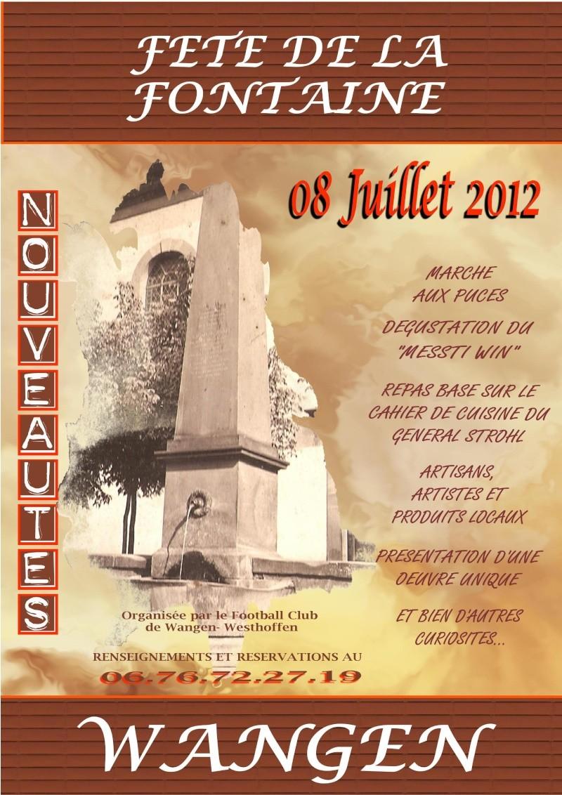 Wangen : Fête de la Fontaine le 8 juillet 2012 Affich17